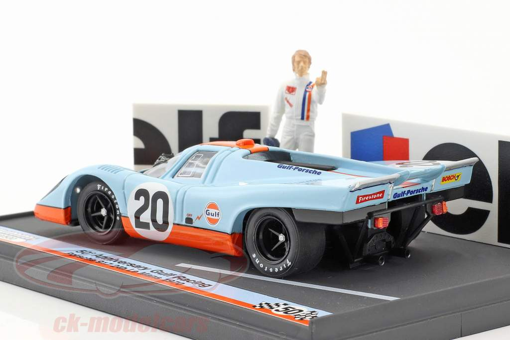 Porsche 917K #20 50th Anniversary Gulf Racing 24h LeMans 1970 With figure & advertising board 1:43 Brumm