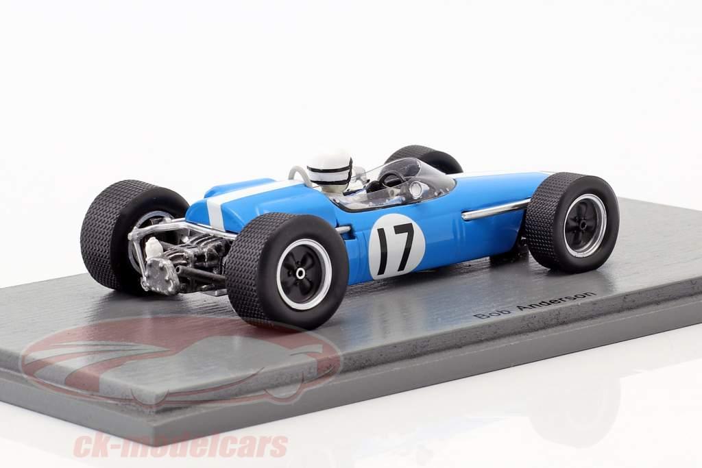 Bob Anderson Brabham BT11 #17 France GP formule 1 1967 1:43 Spark
