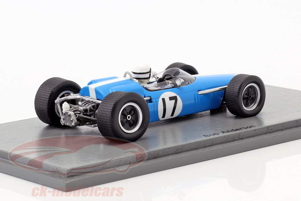 Bob Anderson Brabham BT11 #17 Francia GP formula 1 1967 1:43 Spark
