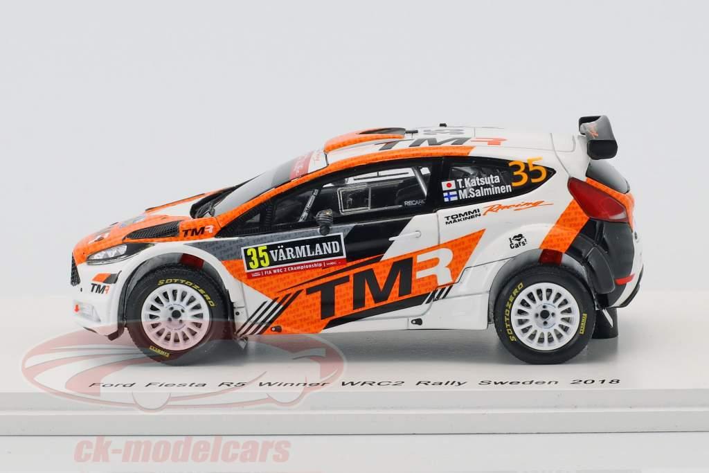 Ford Fiesta R5 #35 vincitore WRC2 Rallye Svezia 2018 Katsuta, Salminen 1:43 Spark