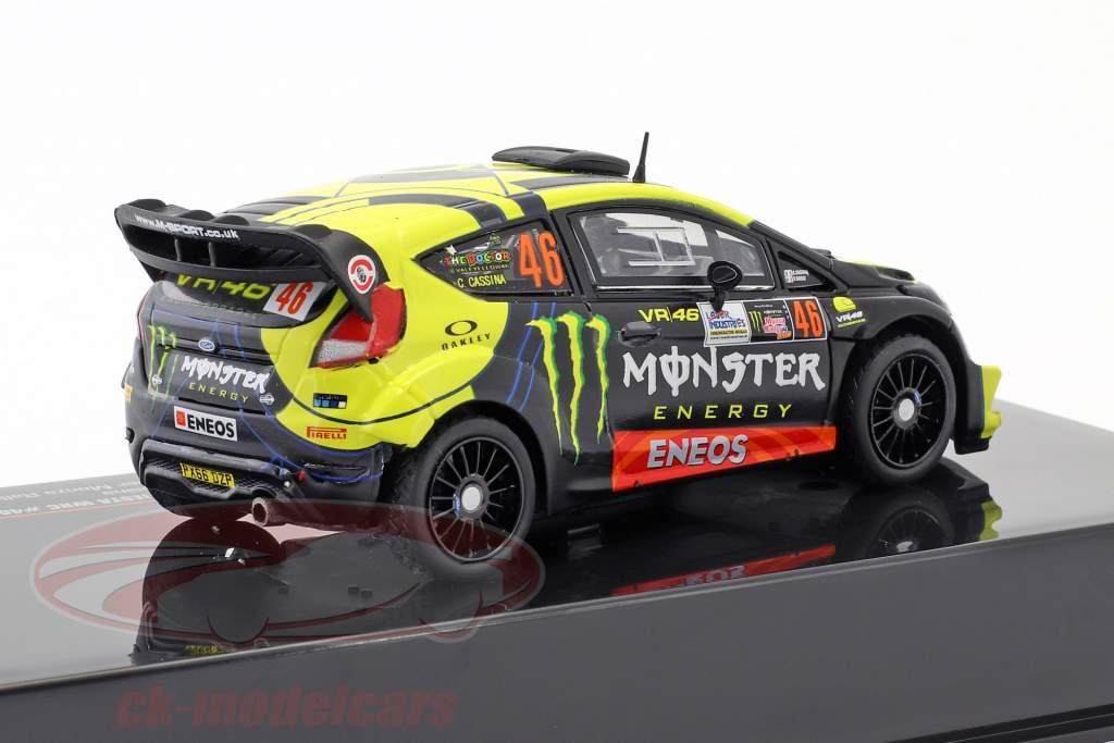 Ford Fiesta WRC #46 gagnant Monza Rallye Show 2017 Rossi, Cassina 1:43 Ixo