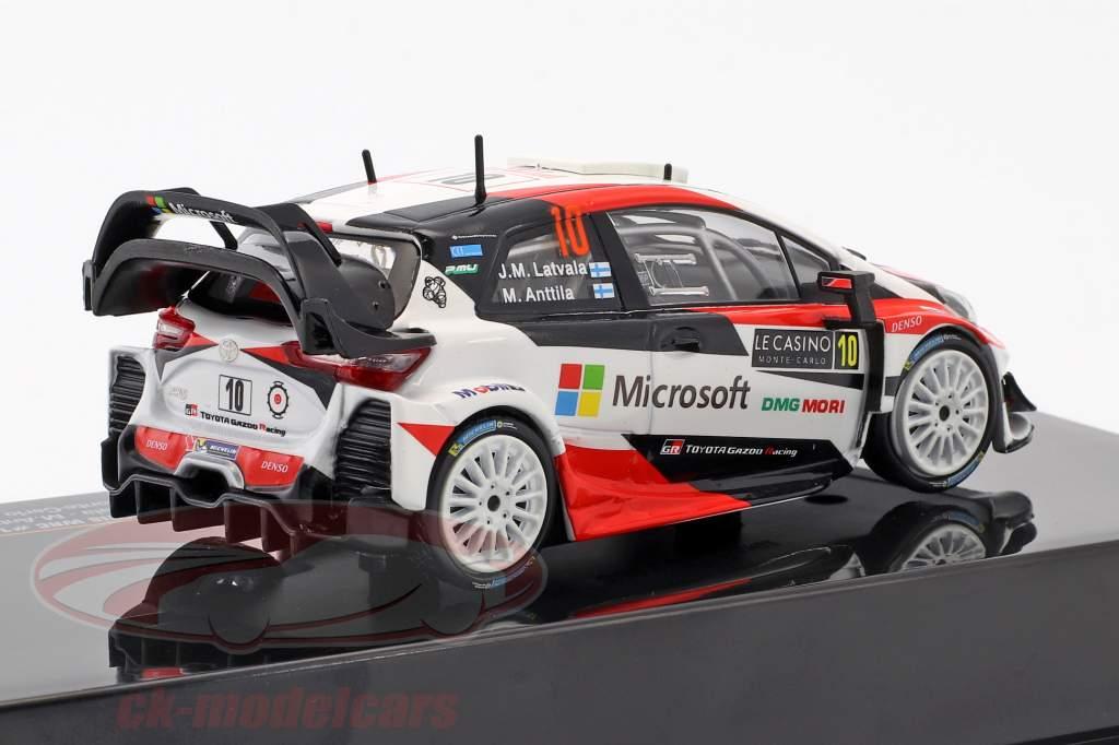 Toyota Yaris WRC #10 2 ° Rallye Monte Carlo 2017 Latvala, Anttila 1:43 Ixo