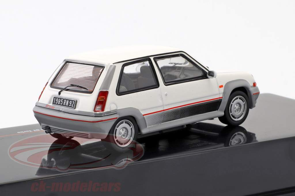 Renault 5 GT Turbo year 1985 white 1:43 Ixo