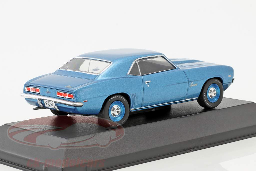 Chevrolet Camaro anno di costruzione 1969 blu metallico / blu cerchioni 1:43 WhiteBox
