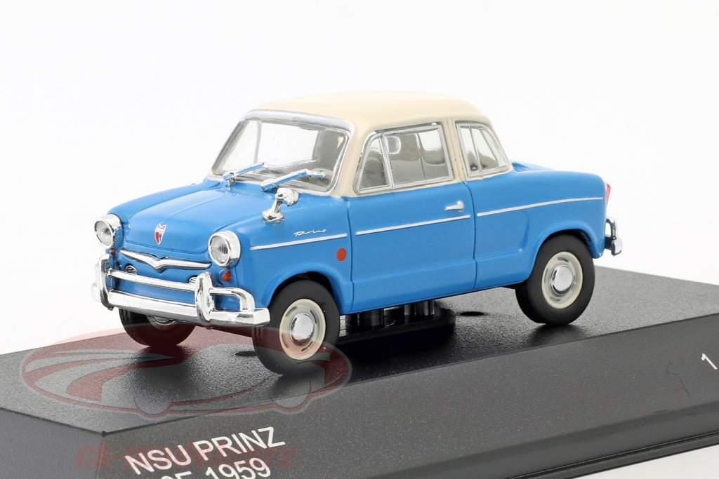 NSU Prinz 30E Baujahr 1959 blau / weiß 1:43 WhiteBox
