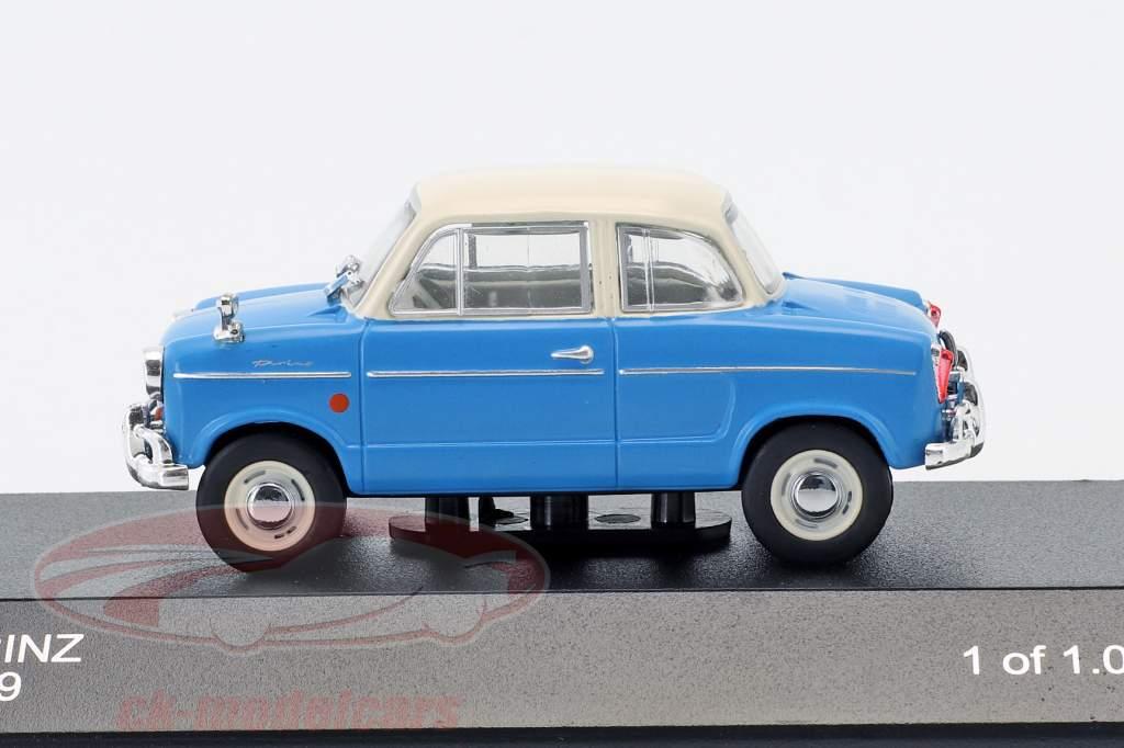 NSU Prinz 30E year 1959 blue / white 1:43 WhiteBox