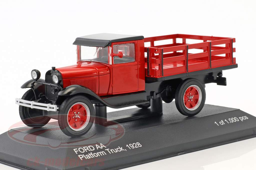 Ford AA Platform Truck year 1928 red 1:43 WhiteBox