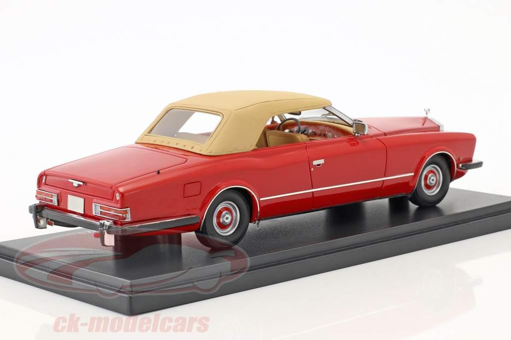 Rolls Royce Phantom VI Frua Drophead coupe year 1971 red / beige 1:43 Neo