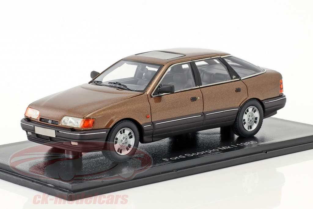 Ford Scorpio Ghia Mk1 année de construction 1986 brun métallique 1:43 Neo