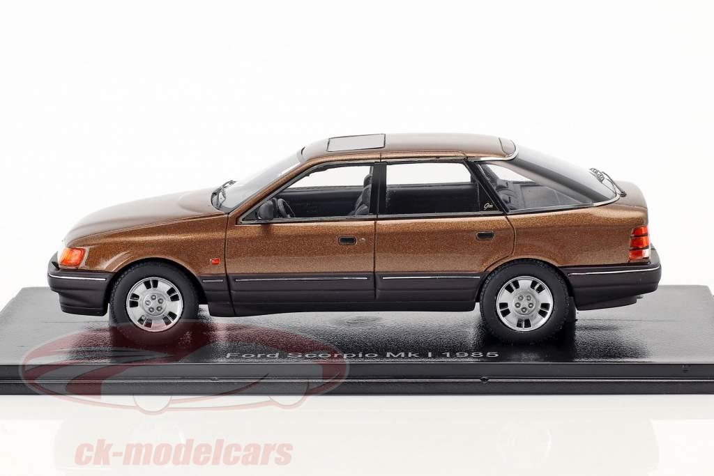 Ford Scorpio Ghia Mk1 year 1986 brown metallic 1:43 Neo