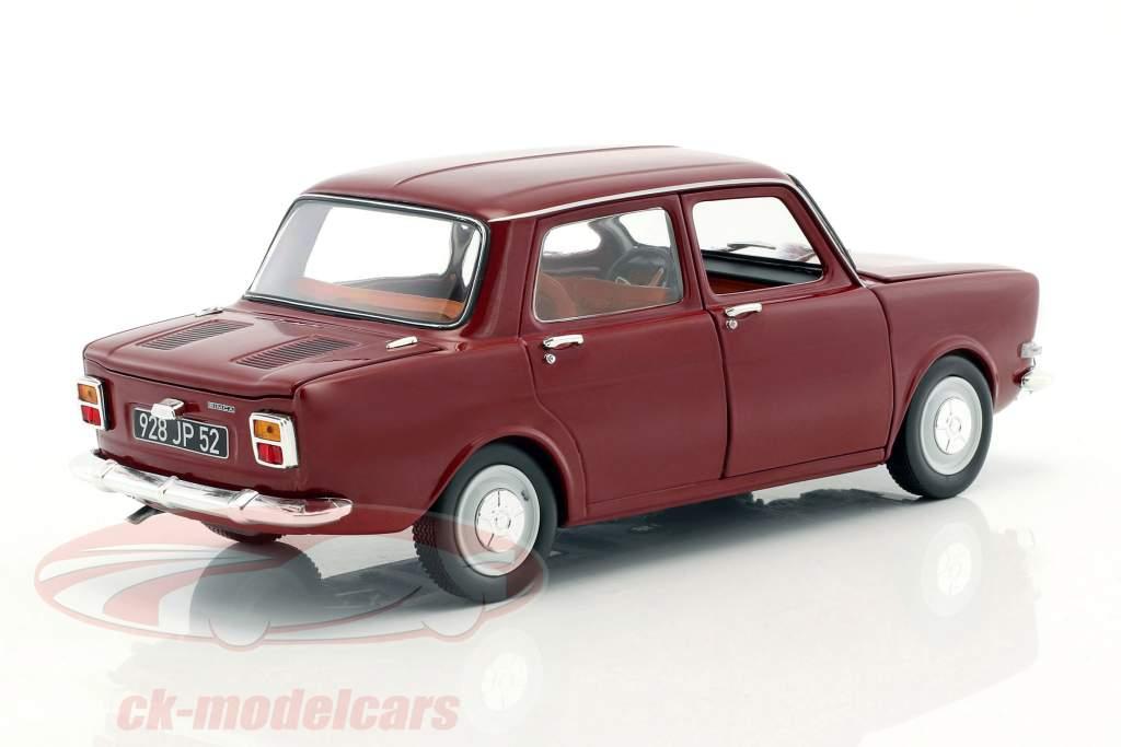 Simca 1000 LS year 1974 amarante red 1:18 Norev