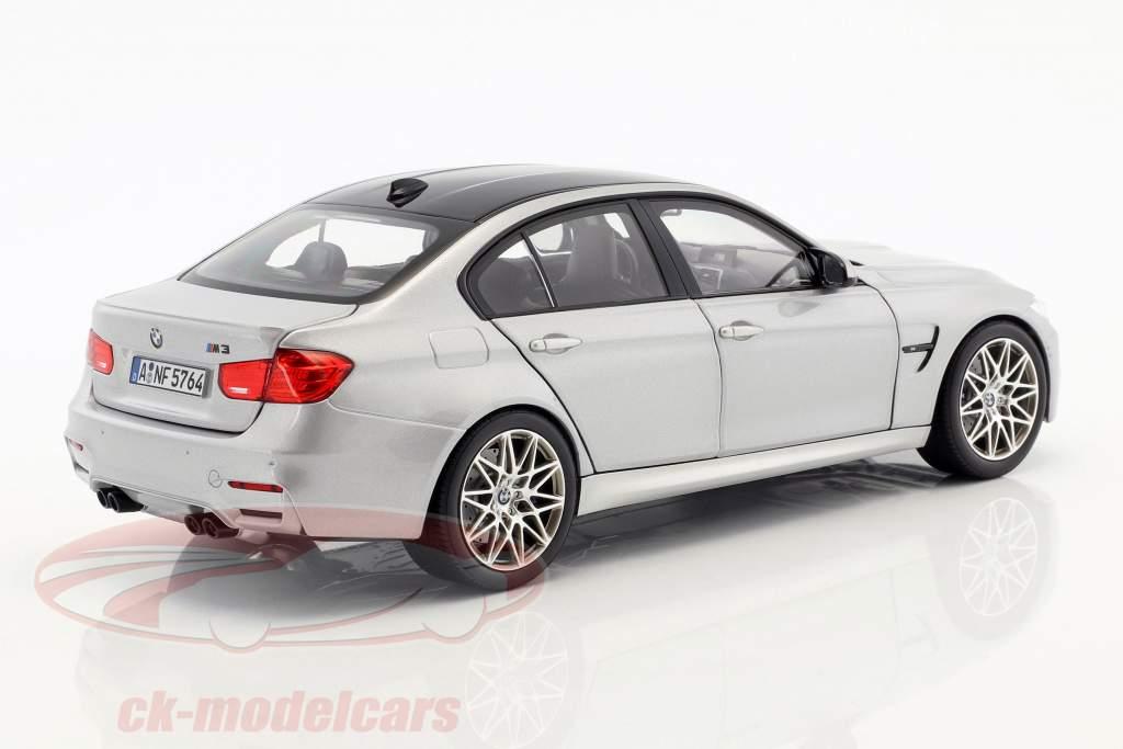 BMW M3 Competition année de construction 2017 argent métallique 1:18 Norev