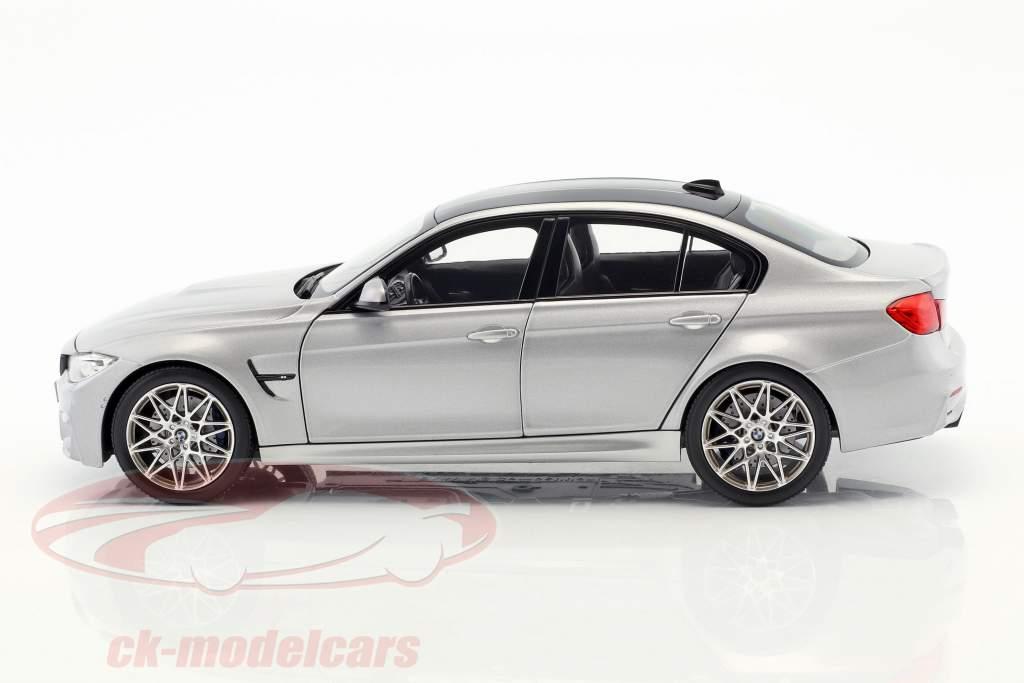 BMW M3 Competition anno di costruzione 2017 argento metallico 1:18 Norev