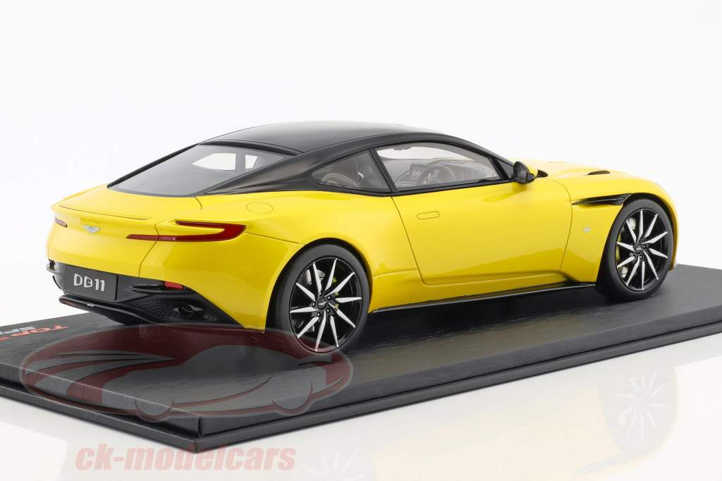 Aston Martin DB11 sunburst giallo 1:18 TrueScale