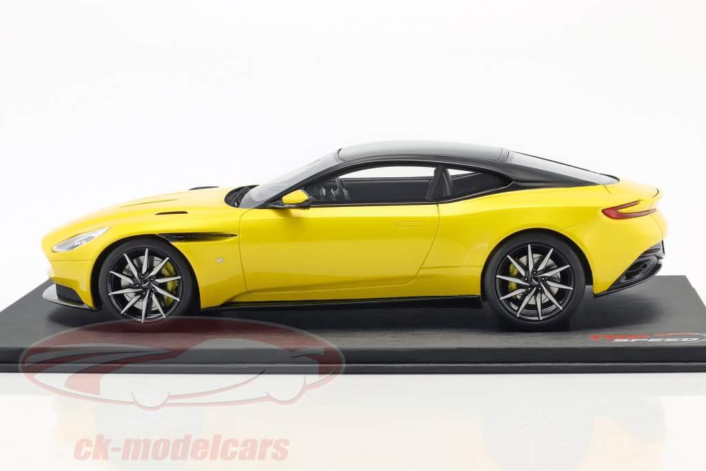 Aston Martin DB11 sunburst amarelo 1:18 TrueScale