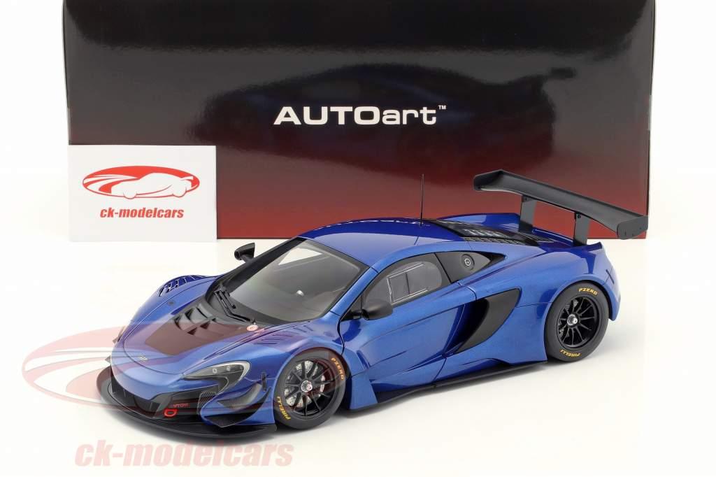 McLaren 650S GT3 anno di costruzione 2017 blu / nero 1:18 AUTOart
