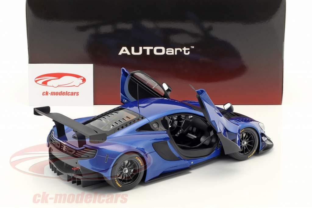 McLaren 650S GT3 Baujahr 2017 blau / schwarz 1:18 AUTOart