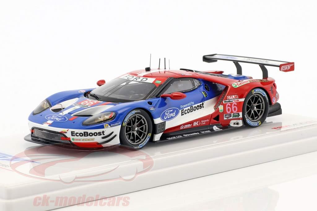 Ford GT #66 vencedor classe GTLM 24h Daytona 2017 Müller, Hand, Bourdais 1:43 TrueScale