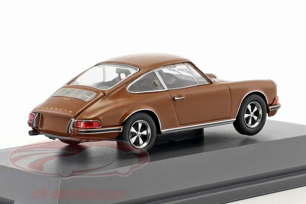 Porsche 911 S brun 1:43 Schuco