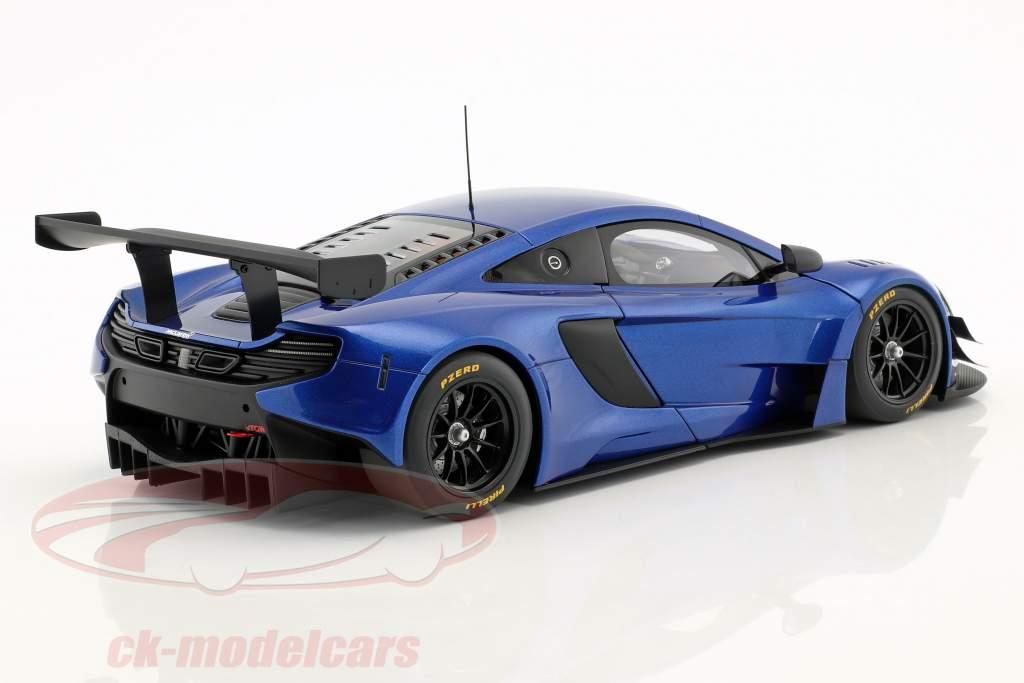 McLaren 650S GT3 año de construcción 2017 azul / negro 1:18 AUTOart