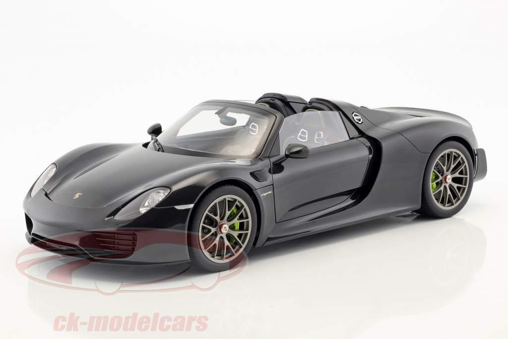 Porsche 918 Spyder Weissach Package Opførselsår 2013 sort metallisk 1:12 AUTOart