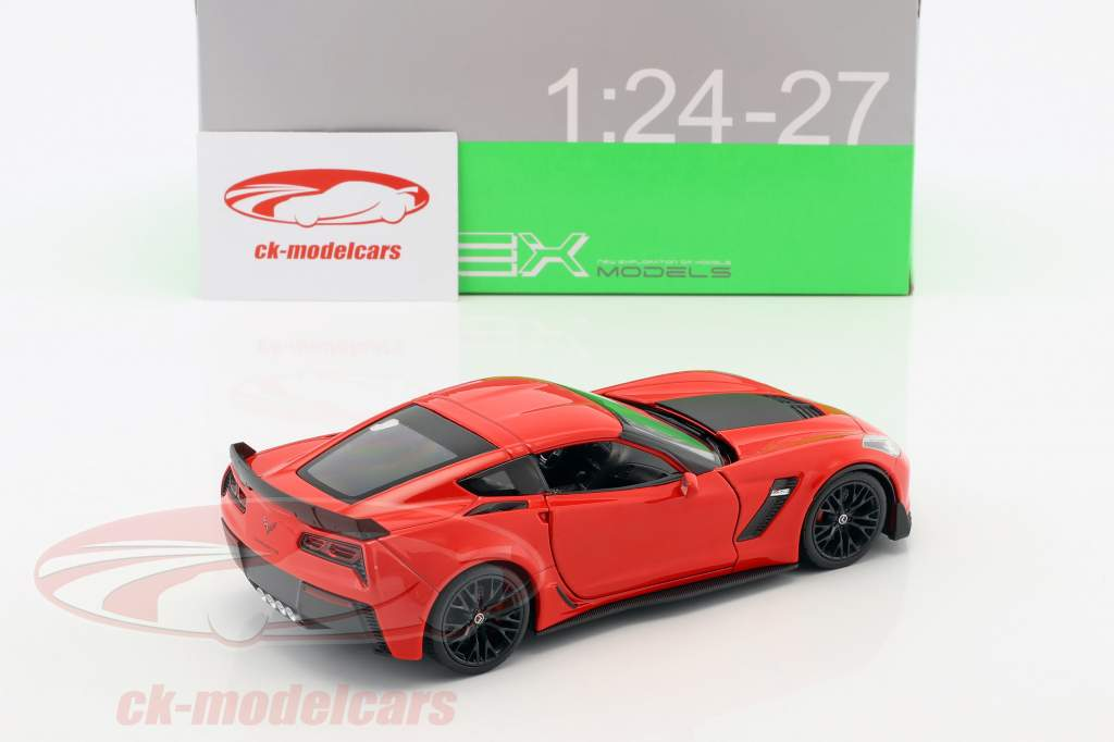 Chevrolet Corvette Z06 année de construction 2017 rouge 1:24 Welly