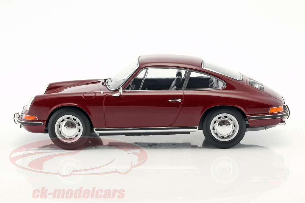 Porsche 911 T Baujahr 1969 dunkelrot 1:18 Norev