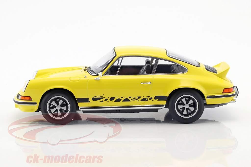 Porsche 911 RS Touring anno di costruzione 1973 giallo / nero 1:18 Norev