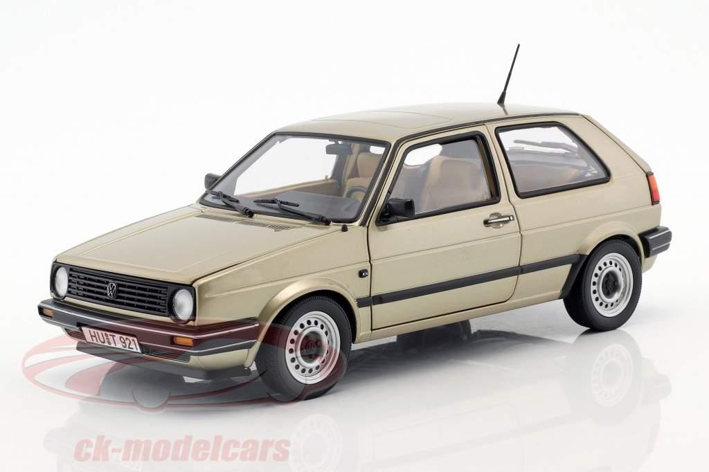 Volkswagen VW Golf II CL anno di costruzione 1988 beige metallico 1:18 Norev