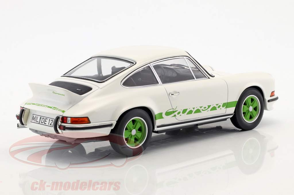 Porsche 911 RS Touring année de construction 1973 blanc / vert 1:18 Norev