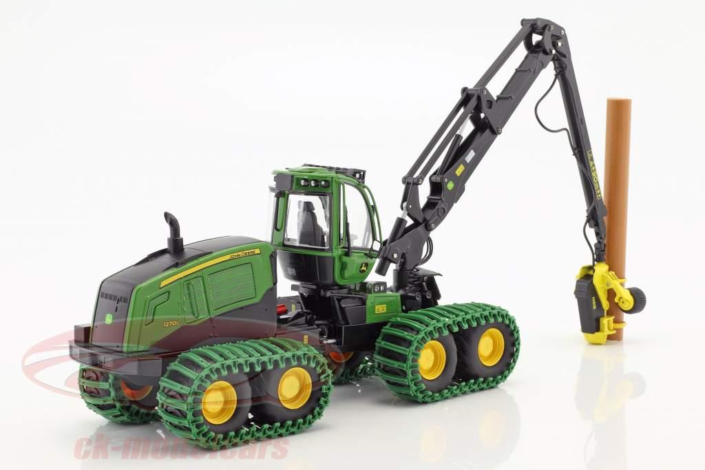 John Deere 1270G 8W Harvester groen 1:32 Schuco