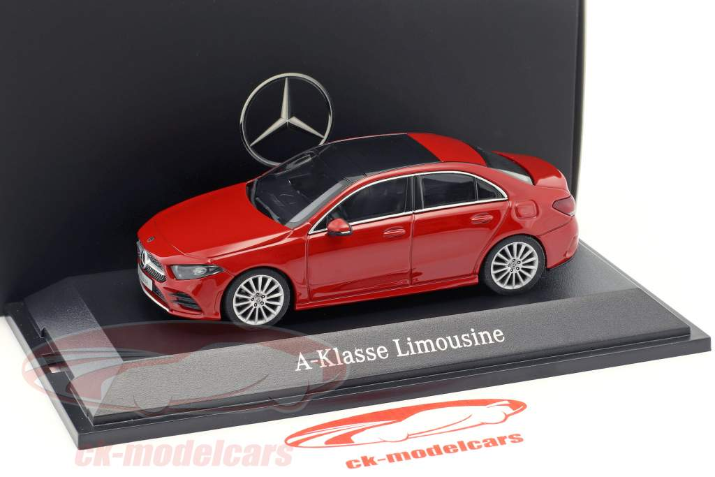 Mercedes-Benz A-Klasse Limousine (V177) Baujahr 2018 jupiter rot 1:43 Herpa
