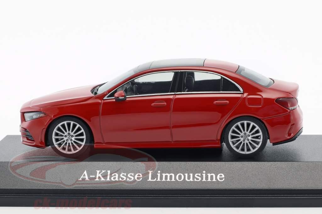 Mercedes-Benz A-Class berline (V177) année de construction 2018 Jupiter rouge 1:43 Herpa