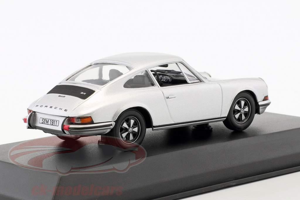 Porsche 911 S 2.4 année de construction 1973  argent 1:43 Norev