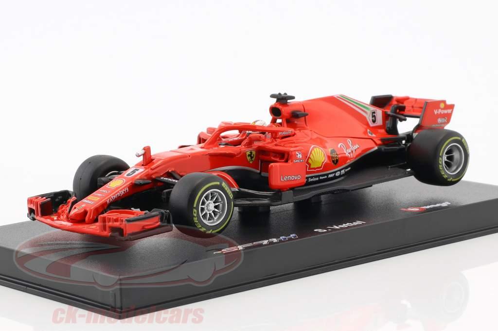 Bburago 143 Sebastian Vettel Ferrari Sf71h 5 Formel 1 2018 Mit
