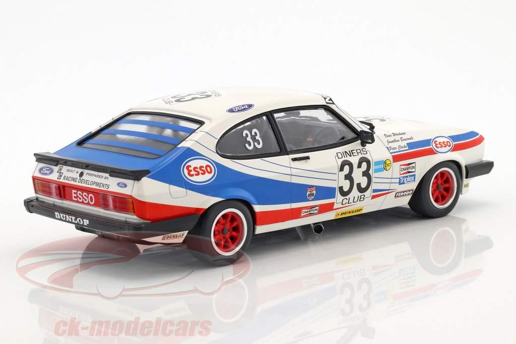 Ford Capri 3.0 #33 3 ° 24h Spa 1981 Woodman, Buncombe, Clark 1:18 Minichamps
