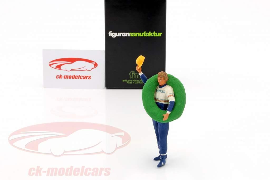 Stefan Bellof chauffør figur med vinder blomsterkrans 1:18 FigurenManufaktur