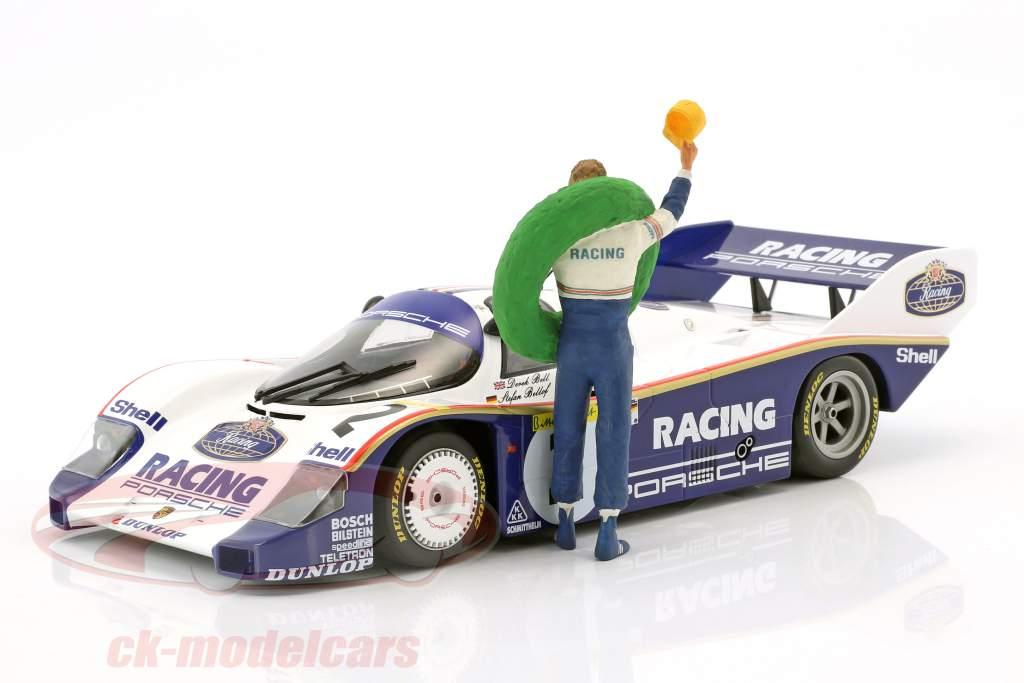 Stefan Bellof motorista figura com vencedor grinalda 1:18 FigurenManufaktur