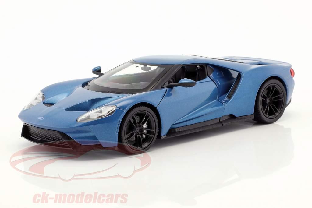 Ford GT año de construcción 2017 azul metálico 1:24 Welly