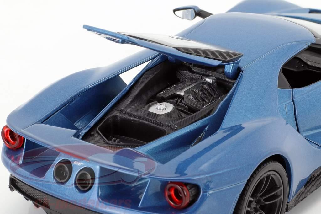 Ford GT Baujahr 2017 blau metallic 1:24 Welly
