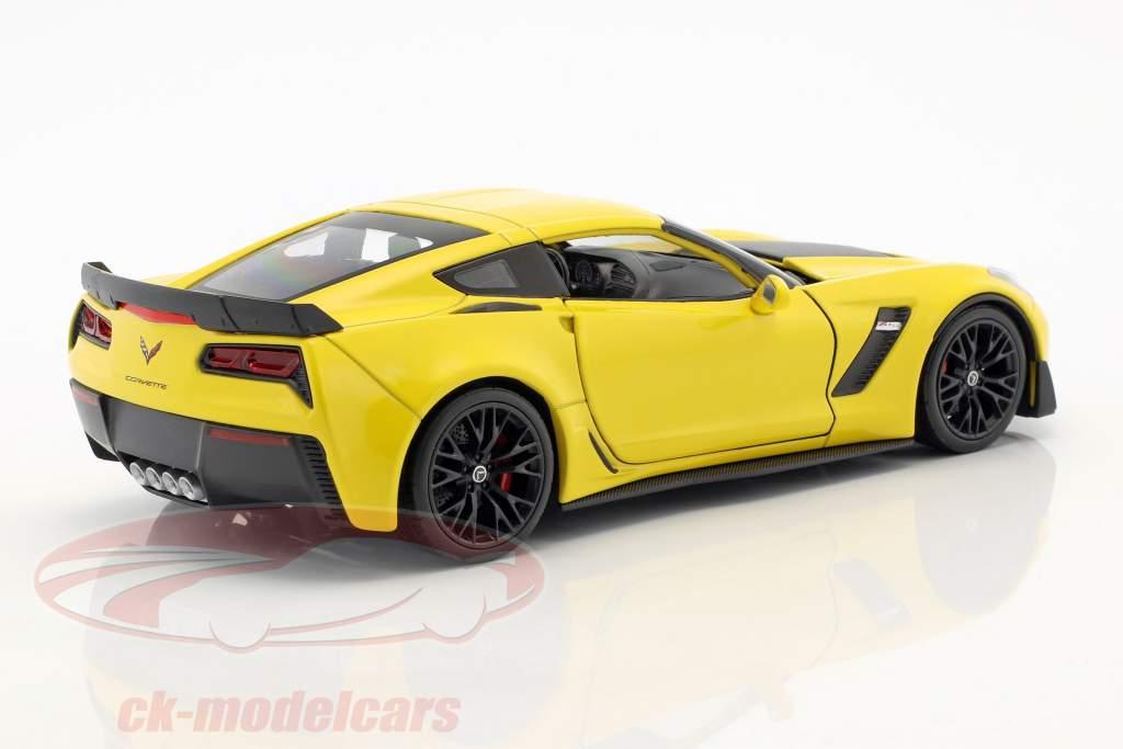 Chevrolet Corvette Z06 ano de construção 2017 amarelo 1:24 Welly