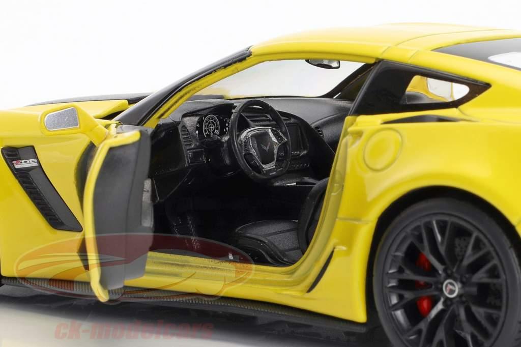 Chevrolet Corvette Z06 Opførselsår 2017 gul 1:24 Welly