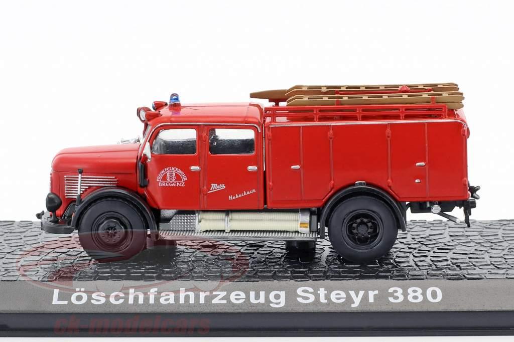 Steyr 380 pompiers Bregenz rouge 1:72 Atlas