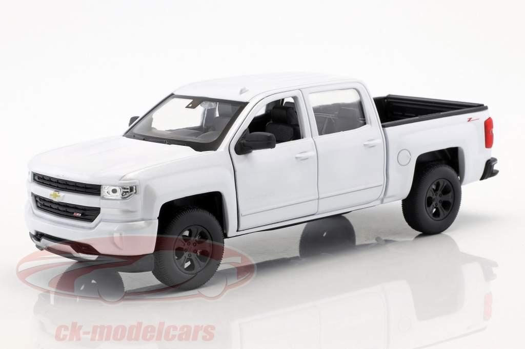 Chevrolet Silverado anno di costruzione 2017 bianco 1:24 Welly