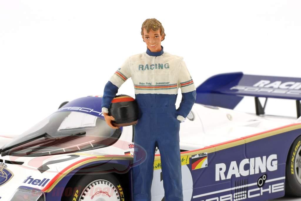 Stefan Bellof conductor figura con casco 1:18 FigurenManufaktur