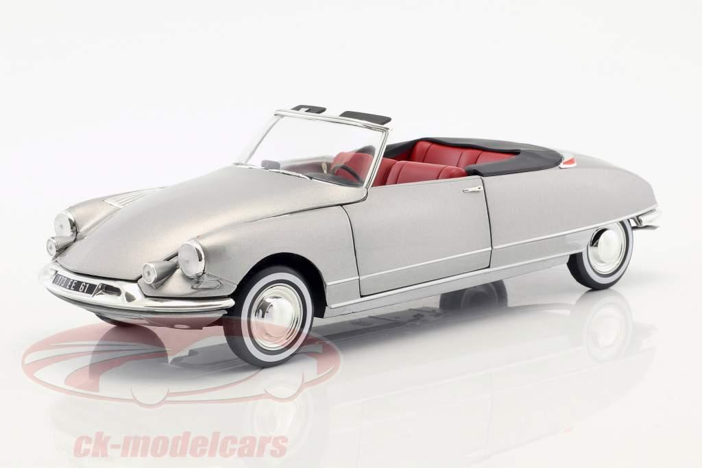 Citroen DS 19 cabriolet avec amovible haut année de construction 1961 gris perle métallique 1:18 Norev