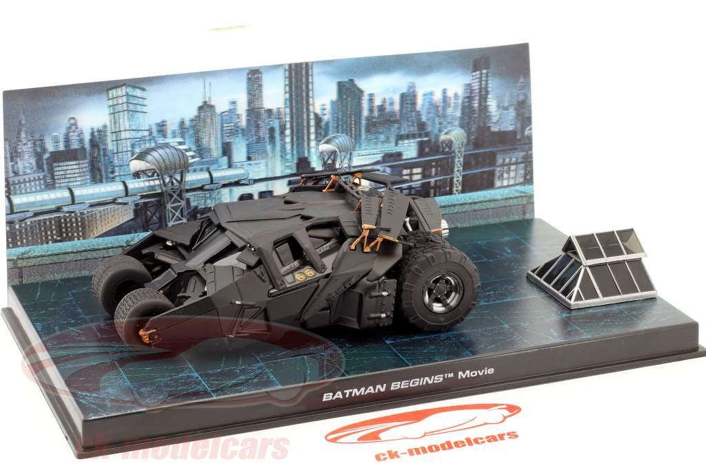 Batmobile fra den Film Batman Begynder 2005 sort 1:43 Ixo Altaya