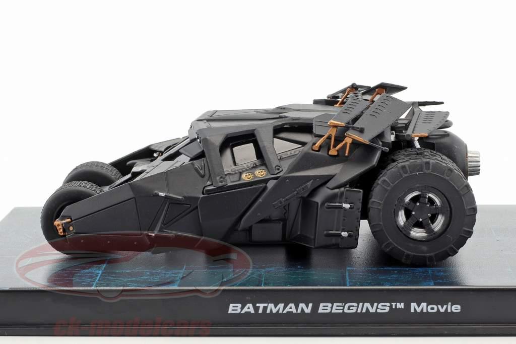 Batmóvel a partir de o Filme Batman Começa 2005 preto 1:43 Ixo Altaya