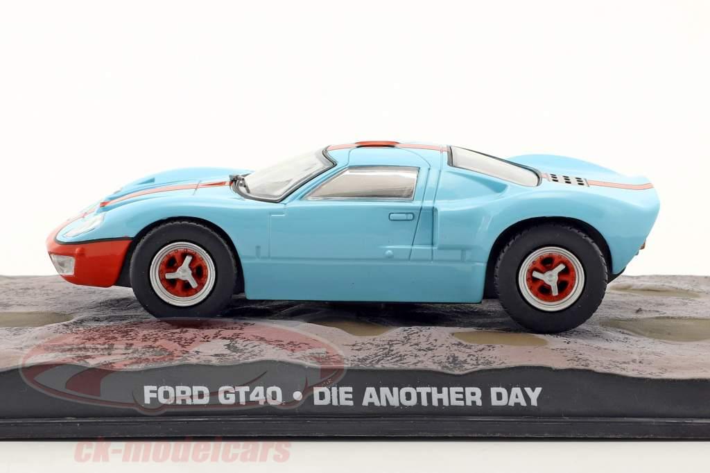 福特GT40汽车詹姆士·邦德电影择日再死浅蓝色1:43 IXO