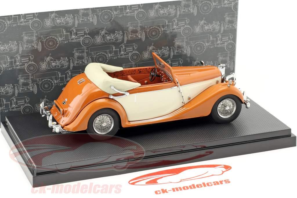 Jaguar Mark IV Baujahr 1948 orange / beige 1:43 Dongguan